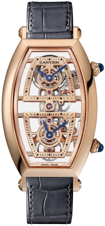 Cartier Prive Herrklocka WHTN0005 Skelettskuren/Läder