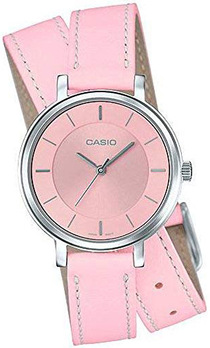 Casio 99999 Damklocka LTP-E143DBL-4A2 Rosa/Läder Ø30 mm