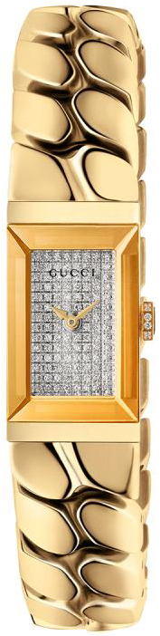 Gucci G-Frame Damklocka YA147512 Diamantinfattad/18 karat gult guld
