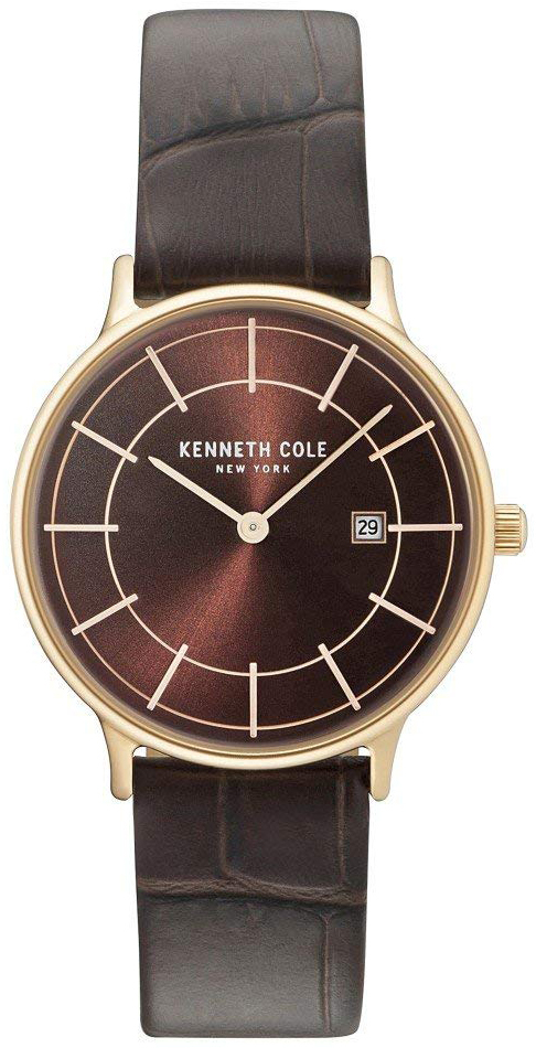 Kenneth Cole Classic Damklocka KC15057001 Brun/Läder Ø33 mm