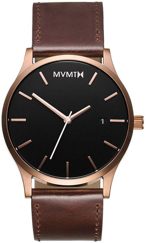MVMT Classic Herrklocka MM01-RGBL Svart/Läder Ø45 mm