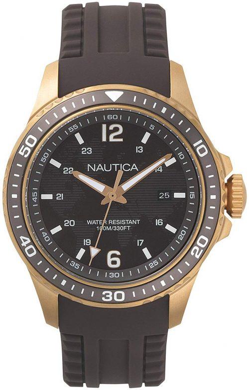 Nautica Freeboard Herrklocka NAPFRB004 Svart/Gummi Ø44 mm