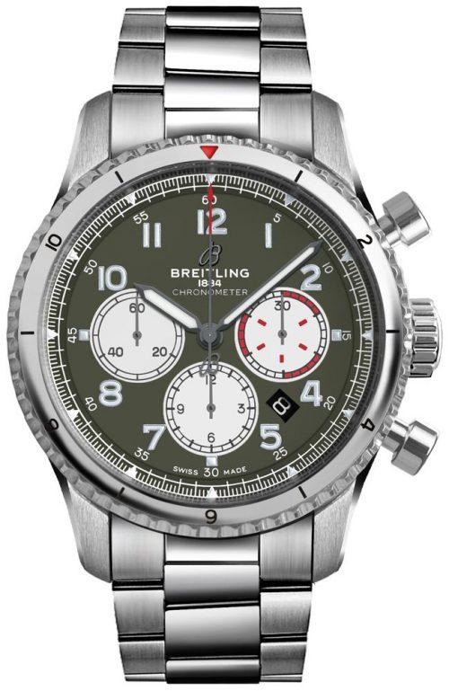 Breitling Aviator 8 B01 Chronograph 43 Herrklocka AB01192A1L1A1