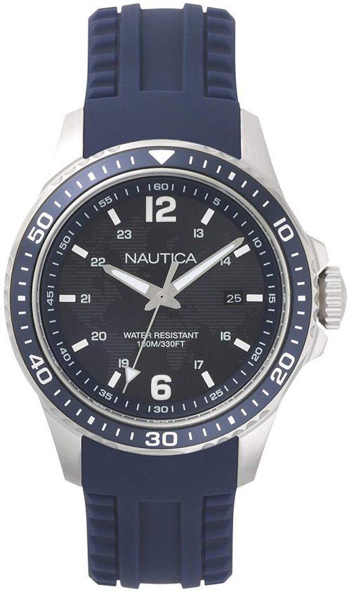 Nautica Freeboard Herrklocka NAPFRB002 Blå/Gummi Ø44 mm