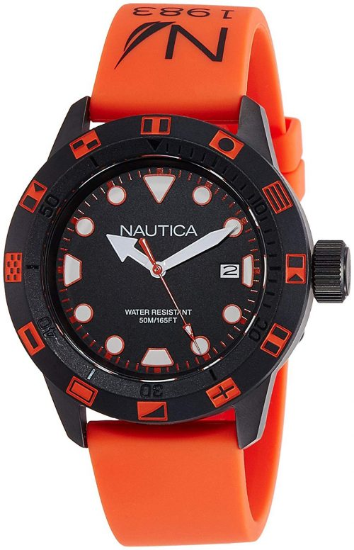 Nautica Nsr Herrklocka NAI10077G Svart/Gummi Ø44 mm