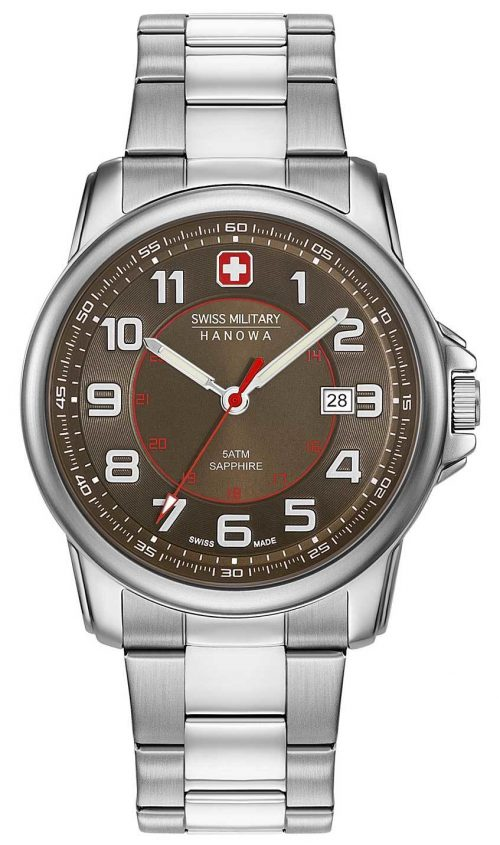 Swiss Military Swiss Grenadier Herrklocka 06-5330.04.005 Brun/Stål