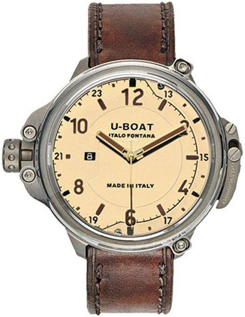U-Boat Capsule Herrklocka 7470 Beige/Läder Ø50 mm