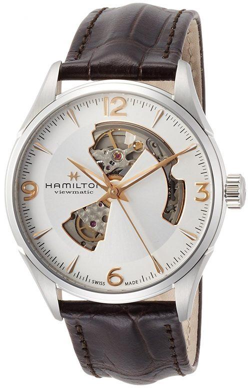Hamilton Jazzmaster Herrklocka H32705551 Silverfärgad/Läder Ø42 mm