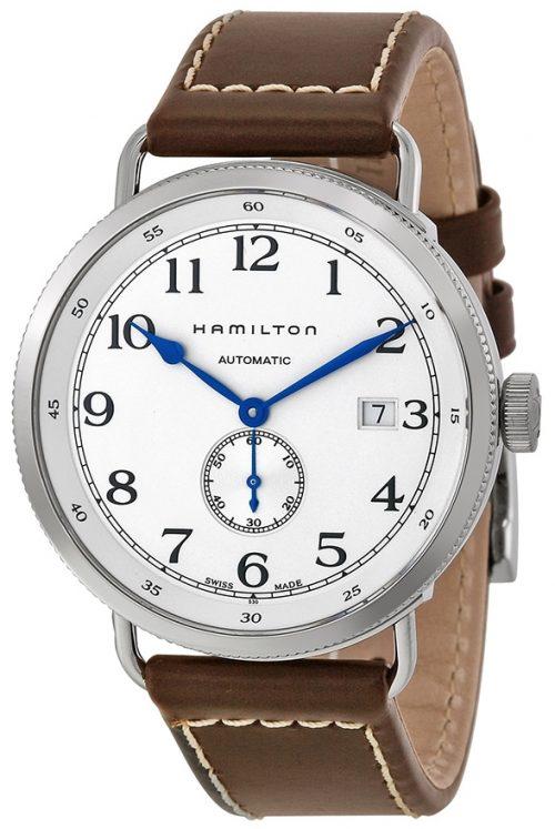 Hamilton Khaki Navy Pioneer Herrklocka H78465553 Silverfärgad/Läder