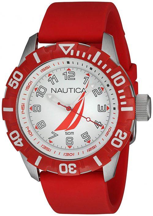 Nautica Nsr Herrklocka NAI08506G Silverfärgad/Gummi Ø44 mm