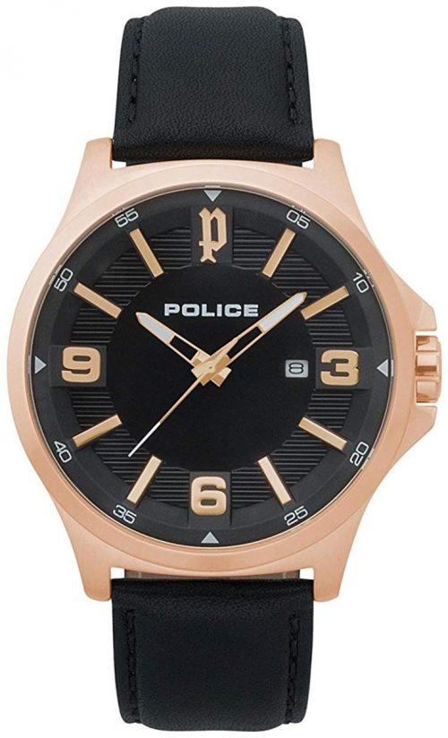 Police 99999 Herrklocka PL15384JSR.02 Svart/Läder Ø44 mm