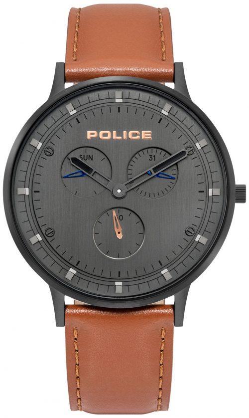 Police 99999 Herrklocka PL15968JSB.39 Grå/Läder Ø42 mm