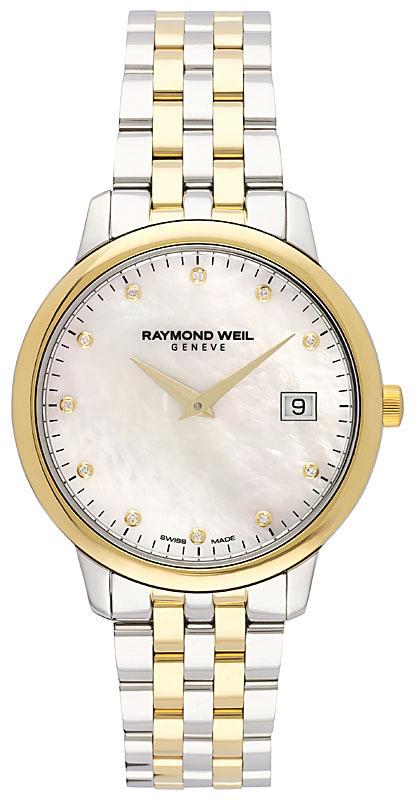 Raymond Weil Toccata Damklocka 5388-STP-97081 Vit/Gulguldtonat stål