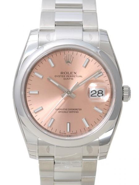 Rolex Perpetual Date Herrklocka 115200-0005 Rosa/Stål Ø34 mm