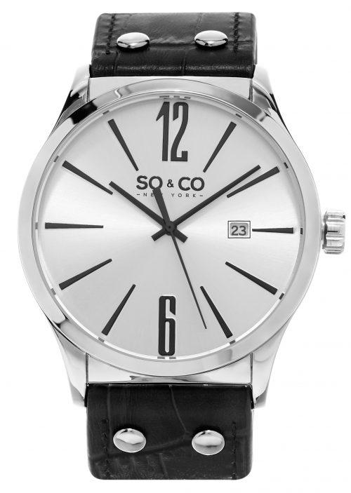 So & Co New York Madison Herrklocka 5098.1 Silverfärgad/Läder