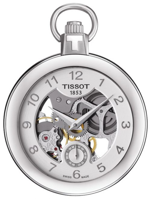Tissot T-Pocket 1920 Mechanical T853.405.19.412.00 Silverfärgad Ø49