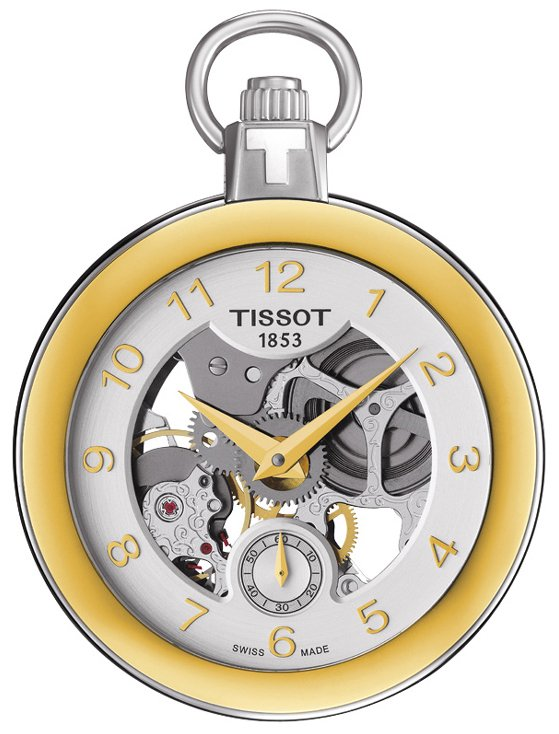 Tissot T-Pocket 1920 Mechanical T853.405.29.412.00 Silverfärgad Ø49