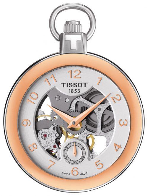 Tissot T-Pocket 1920 Mechanical T853.405.29.412.01 Silverfärgad Ø49