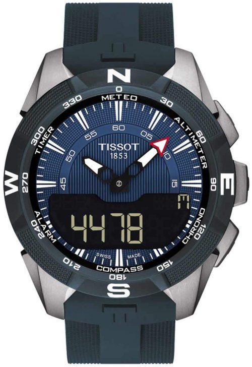 Tissot T-Touch Herrklocka T110.420.47.041.00 Blå/Gummi Ø45 mm