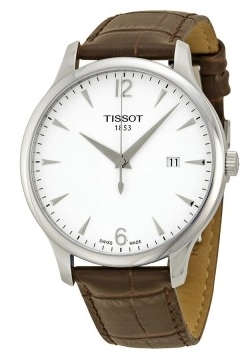 Tissot Tradition Herrklocka T063.610.16.037.00 Vit/Läder Ø42 mm