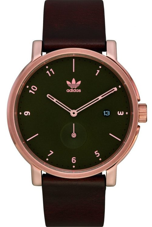 Adidas District LX2 Herrklocka Z12-3038-00 Grön/Läder Ø40 mm
