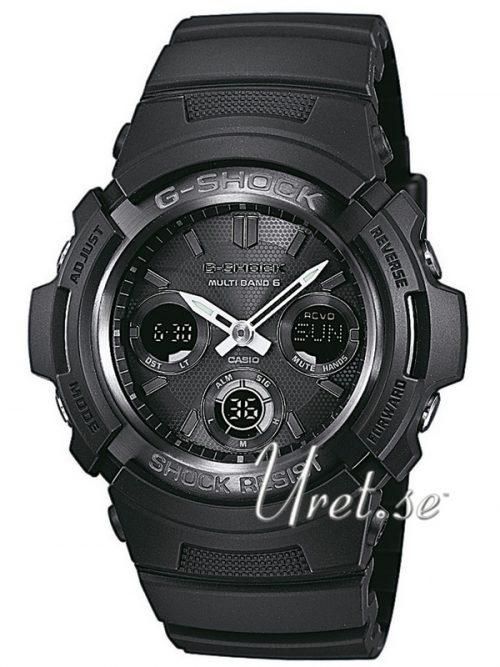 Casio G-Shock Herrklocka AWG-M100B-1AER Svart/Resinplast Ø46.6 mm