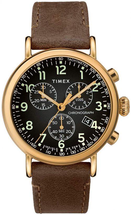 Timex 99999 Herrklocka TW2T20900 Svart/Läder Ø41 mm