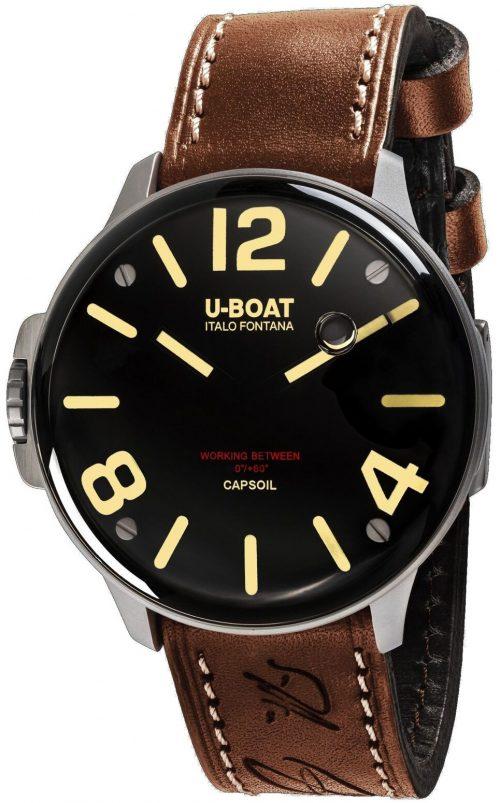 U-Boat Capsoil Herrklocka 8110/A Svart/Gummi Ø45 mm