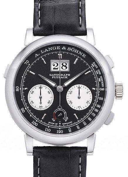 A. Lange & Söhne Saxonia Herrklocka 405.035 Svart/Läder Ø41 mm