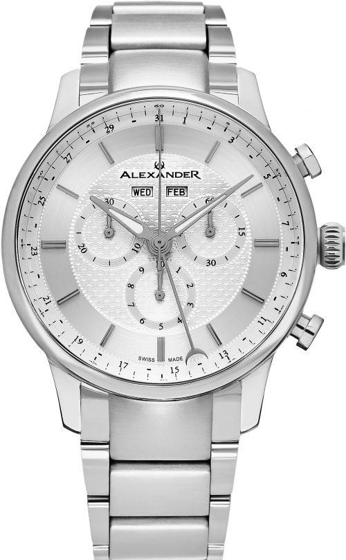 Alexander Statesman Herrklocka A101B-01 Silverfärgad/Stål Ø42 mm
