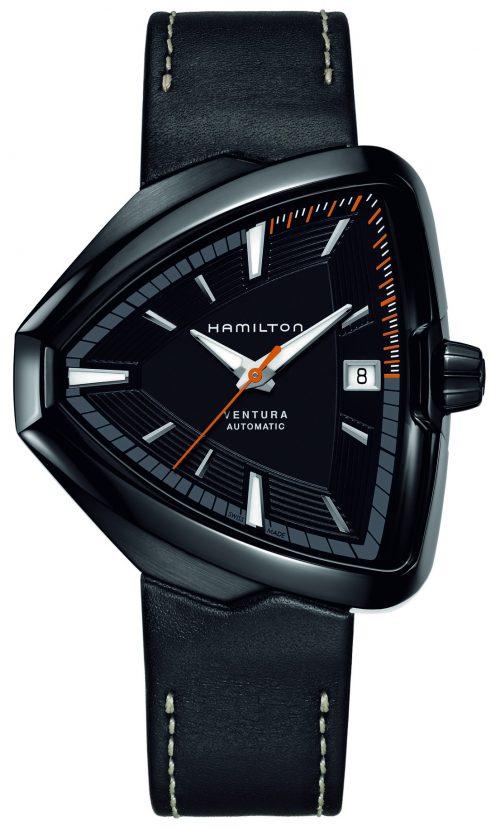 Hamilton American Classic Ventura Herrklocka H24585731 Svart/Läder