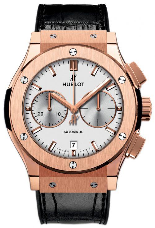 Hublot Classic Fusion Herrklocka 521.OX.2611.LR Silverfärgad/Läder