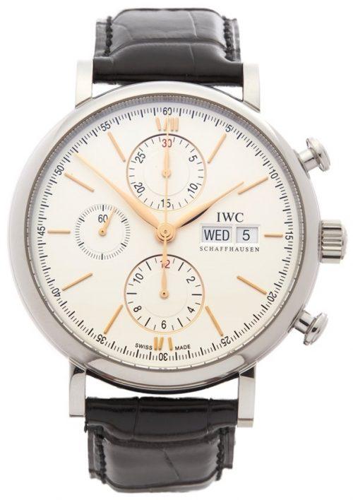 IWC Portofino Herrklocka IW391022 Silverfärgad/Läder Ø42 mm