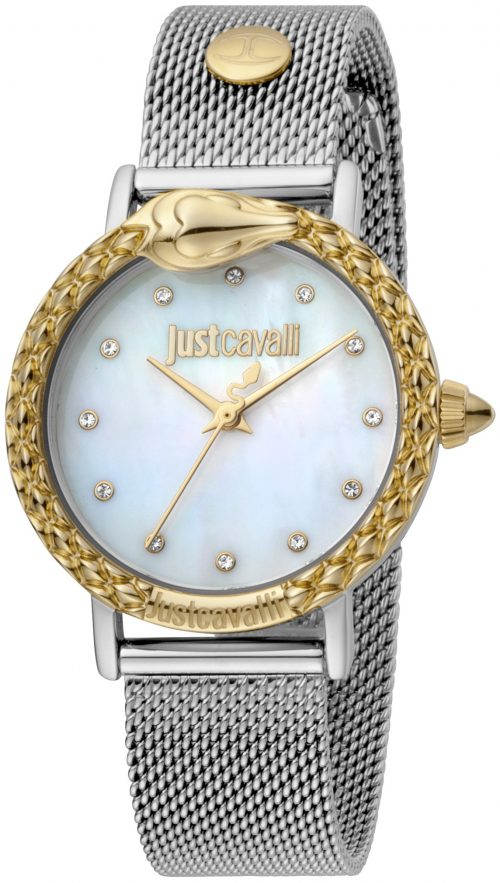 Just Cavalli 99999 Damklocka JC1L124M0095 Vit/Stål Ø34 mm