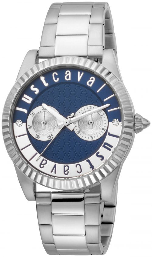 Just Cavalli 99999 Damklocka JC1L142M0065 Blå/Stål Ø36 mm