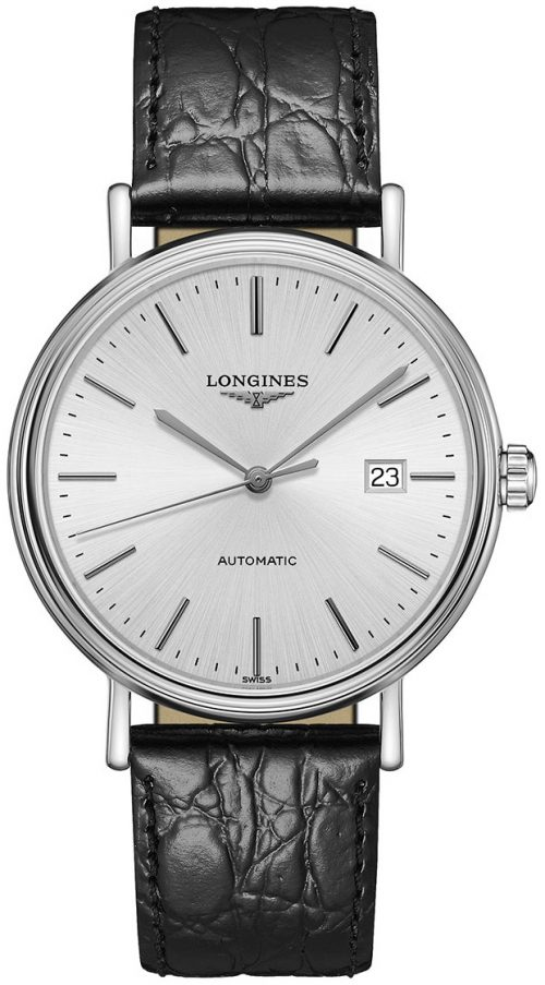 Longines Presence Herrklocka L4.922.4.72.2 Silverfärgad/Läder Ø40