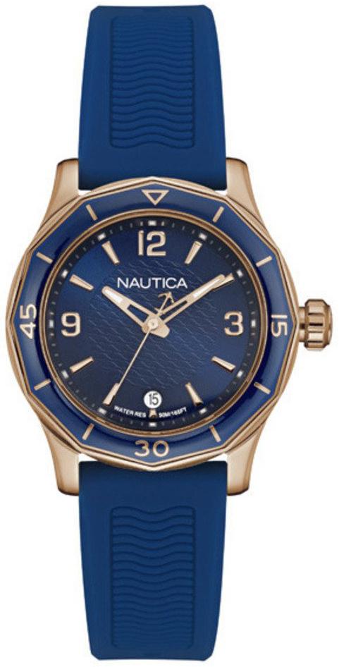 Nautica 99999 Damklocka NAD13525L Blå/Gummi Ø36 mm