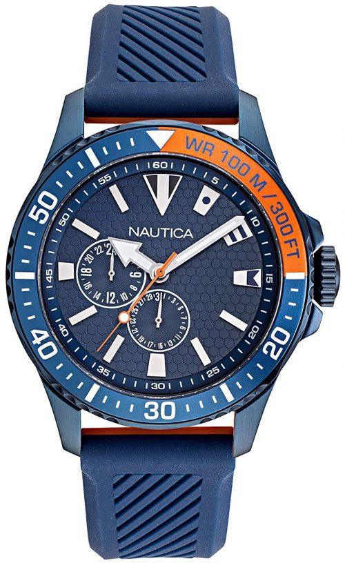 Nautica 99999 Herrklocka NAPFRB924 Blå/Gummi Ø44 mm
