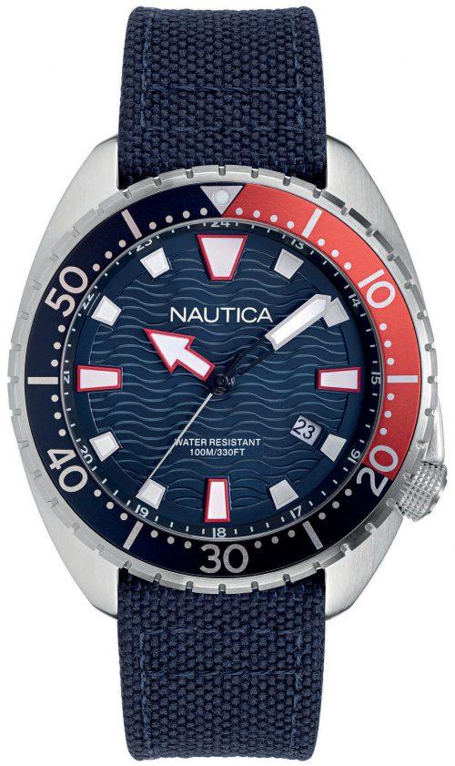 Nautica 99999 Herrklocka NAPHAS905 Blå/Textil Ø45 mm