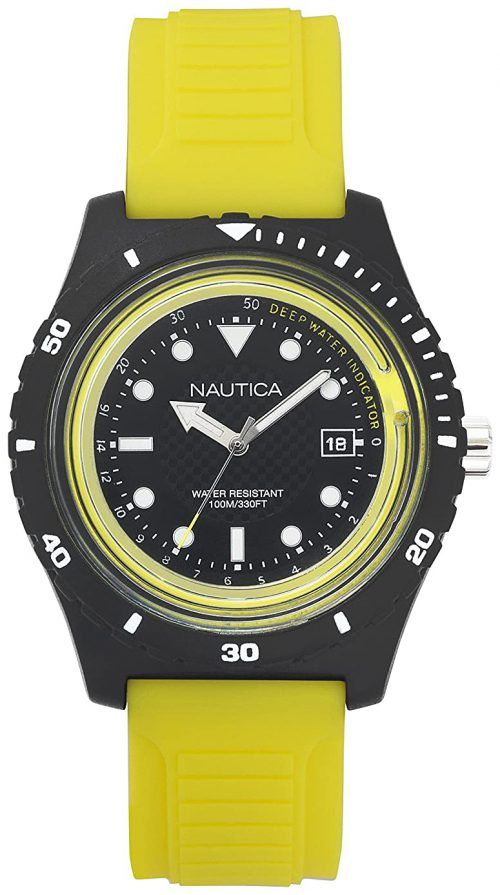 Nautica 99999 Herrklocka NAPIBZ003 Svart/Gummi Ø46 mm