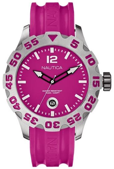 Nautica BFD 100 Herrklocka A14607G Rosa/Resinplast Ø46 mm