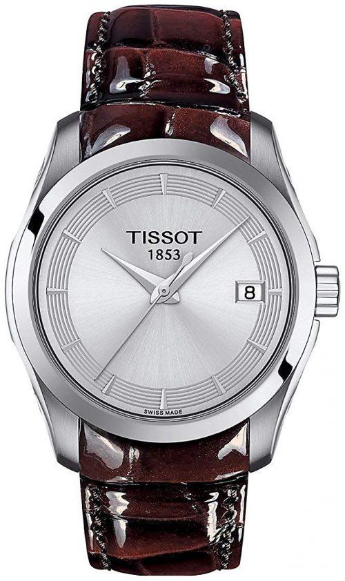 Tissot Couturier Damklocka T035.210.16.031.03 Silverfärgad/Läder