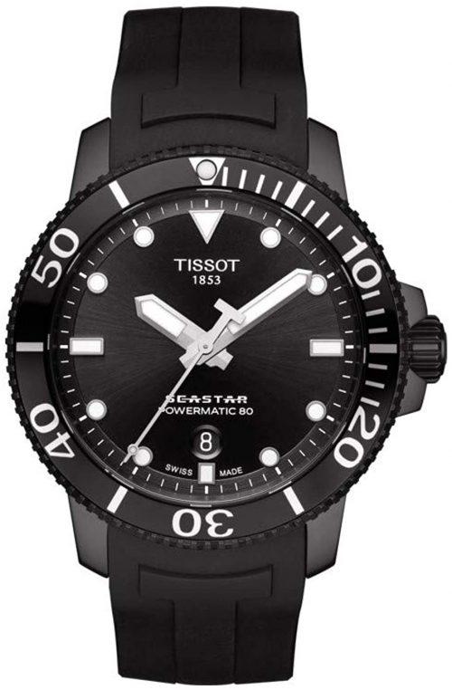 Tissot Seastar 1000 Herrklocka T120.407.37.051.00 Svart/Gummi Ø43 mm