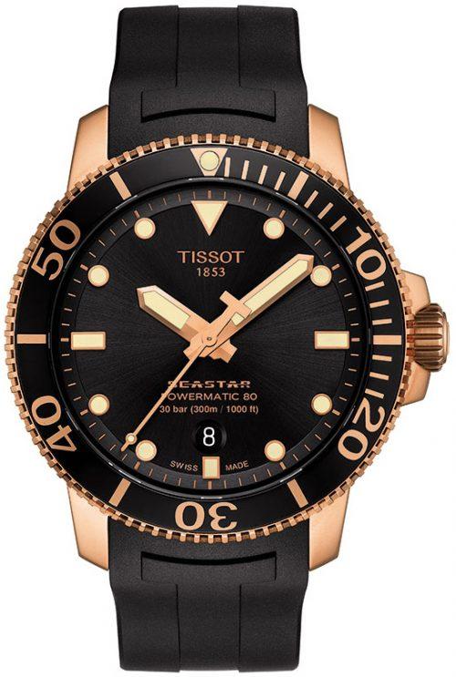Tissot Seastar 1000 Herrklocka T120.407.37.051.01 Svart/Gummi Ø43 mm