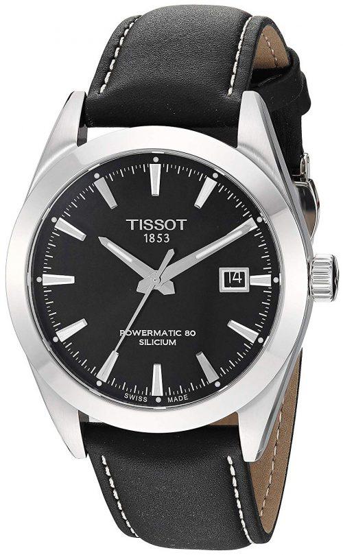 Tissot T-Classic Herrklocka T127.407.16.051.00 Svart/Läder Ø40 mm