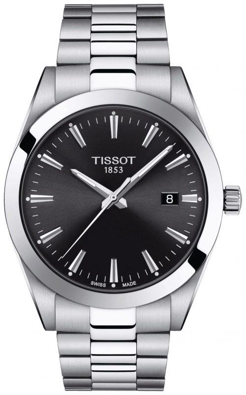 Tissot T-Classic Herrklocka T127.410.11.051.00 Svart/Stål Ø40 mm