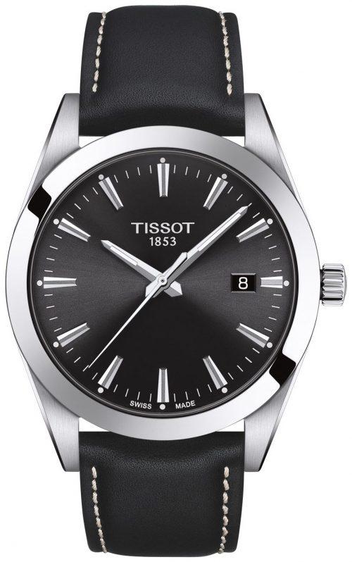 Tissot T-Classic Herrklocka T127.410.16.051.00 Svart/Läder Ø40 mm
