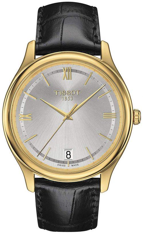 Tissot T-Gold Herrklocka T924.410.16.038.00 Silverfärgad/Läder Ø40