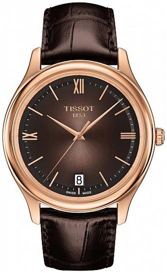 Tissot T-Gold Herrklocka T924.410.76.308.00 Brun/Läder Ø40 mm