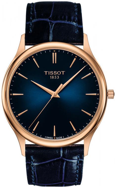 Tissot T-Gold Herrklocka T926.410.76.041.00 Blå/Läder Ø40 mm